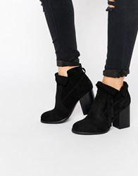 Asos Emma Slouchy Ankle Boots Black