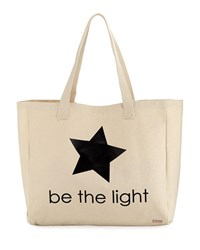 Peace Love World Oversized Canvas Graphic Tote Bag Natural Be The L
