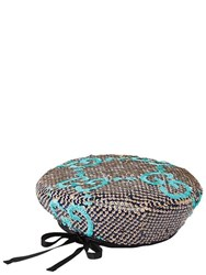 Gucci Sequined Gg Basco Hat Blue