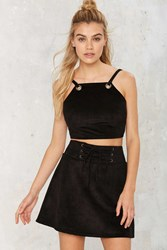 After Party Vintage Like A Charm Vegan Suede Mini Skirt