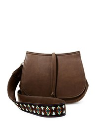 Steve Madden Crossbody Saddle Bag Brown