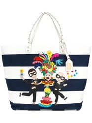 Dolce And Gabbana Flamenco Stripe Tote