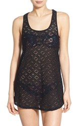 Women's Roxy Lace Racerback Cover Up True Black