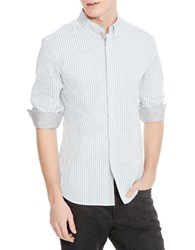 Kenneth Cole Checkered Sportshirt Teal Combo