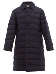 Burberry Down Filled Wool Coat Navy