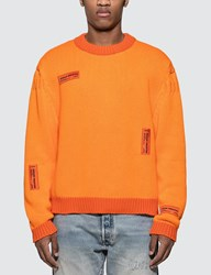 Heron Preston Crazy Label Sweatshirt Orange