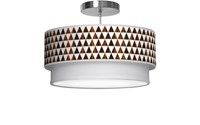 Jefdesigns Triangle 1 Double Tiered Pendant Brown