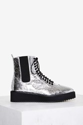 Shellys London Lily Metallic Boot Silver