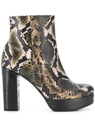 Kennel Schmenger And Snakeskin Effect Boots Green