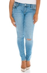 Slink Jeans Plus Size Women's Ripped Skinny