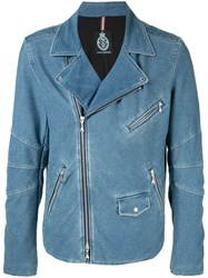 Guild Prime Zipped Fitted Jacket Blue