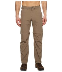 Jack Wolfskin Canyon Zip Off Pants Siltstone Casual Pants Brown