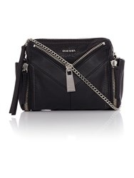 Diesel Le Zipper Le Bhonny Crossbody Bag Black