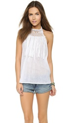 Ramy Brook Pip Halter Blouse Summer White