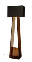 Pablo Tube Top Floor Lamp Charcoal Shade Charcoal Base Multicolor