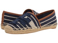 Tory Burch Shaw Espadrille Navy Sea Royal Women's Shoes Blue