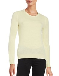 Lord And Taylor Petite Cashmere Pullover Sweater Yellow