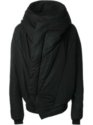 Julius Panelled Hooded Jacket Black