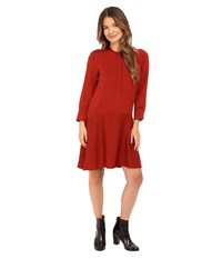 Theory Carstan Modern Dress Red Oak