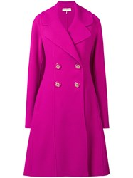 Emilio Pucci Double Breasted Coat Pink And Purple