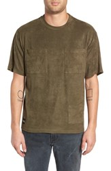 Native Youth Corduroy Pocket T Shirt Olive
