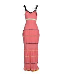 Tricot Chic Long Dresses Salmon Pink