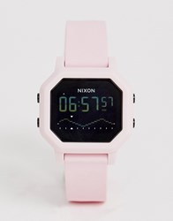 Nixon A1210 Siren Silicone Watch In Pink