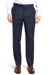 Bensol Men's Big And Tall Flannel Wool Trousers Blue