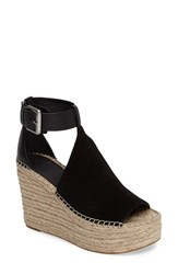 Marc Fisher Women's Ltd Annie Perforated Espadrille Platform Wedge