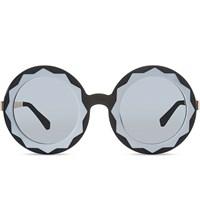 Markus Lupfer Ml11 Oversized Round Frame Sunglasses Black White