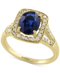 Effy Collection Royale Bleu By Effy Sapphire 1 9 10 Ct. T.W. And Diamond 1 4 Ct. T.W. Ring In 14K Gold Yellow Gold