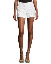 Cynthia Steffe Cotton Eyelet Shorts White