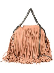 Stella Mccartney 'Falabella' Fringed Tote Pink And Purple