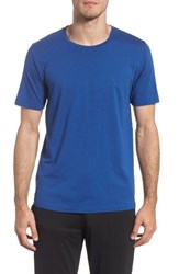 Tommy John Cotton Blend Crewneck T Shirt Blue