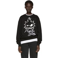 Mcq By Alexander Mcqueen Black 'Psycho Billy' Slouch Sweatshirt