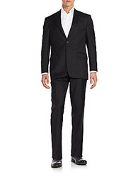 Lauren Ralph Lauren Ultra Flex Fit Solid Wool Suit Black