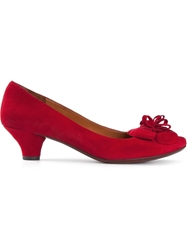 Chie Mihara 'Mihara' Flower Detail Pumps Red