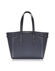 Aspinal Of London Marylebone Light Navy Blue Peble Tote