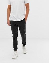D Struct Ribbed Velvet Jogger Grey