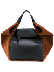 Givenchy Two Tone Tote Bag Women Calf Leather Suede One Size Black
