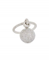Mariani Bellagio Diamond Dangling Ball Ring In 18K White Gold