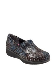 Softwalk Meredith Textured Leather Clog Multi Mosa