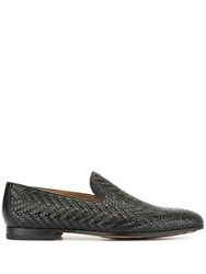 Magnanni Woven Loafers Black