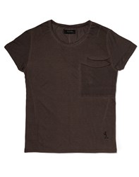 Religion T Shirt With Scoop Neck Brown
