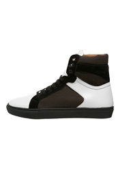 Boom Bap Karma Hightop Trainers White Black