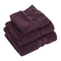 Amara Super Soft Cotton Towel Aubergine Bath Sheet
