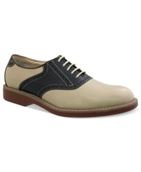 Bass Pomona Plain Toe Saddle Lace Up Shoes Men's Shoes Hemp Navy