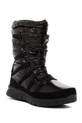 Khombu Alta Faux Fur Lined Quilted Boot Black