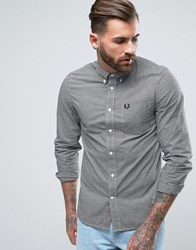 Fred Perry Shirt In Slim Fit Gingham With Long Sleeves Black Black