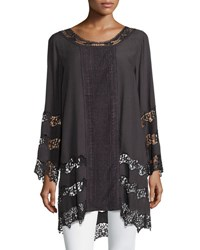 Xcvi Imani Georgette And Crochet Tunic Lndgry